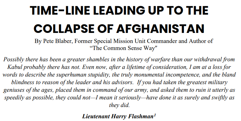 Timeline Collapse Afghanistan